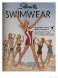 Silhouette Swimwear Giclee Print