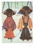Macrame Afro Disco Dolls Poster