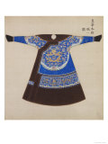 Winter Court Robe Worn by the Emperor, China Lámina giclée