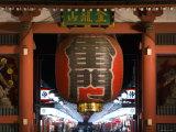 Paper Lantern, Thunder Gate, Senso-Ji Temple, AsakUSA, Tokyo, Japan Reproduction photographique par Gavin Hellier