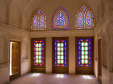 The Stained Glass Windows of Traditional House, Kashan, Isfahan Province, Iran Photographic Print by Michele Falzone