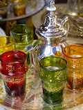 Moroccan Silver Teapot and Glasses, the Souq, Marrakech, Morocco Photographic Print by Gavin Hellier