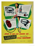 Lucas Cycle Equipment Giclee Print