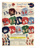 Childrens Knitting Patterns Giclee Print