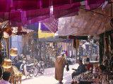 Marrakesh Market, Morocco Fotografisk tryk af Peter Adams