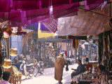 Marrakesh Market, Morocco Fotodruck von Peter Adams