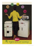 Servis Washing Machine Giclee Print