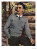 1940's Man's Knit Sweater Posters