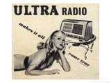 Ultra Radio, Makes it All Come True Giclee Print