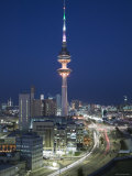 Liberation Tower and City, Kuwait City, Kuwait Photographic Print by Walter Bibikow