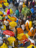 Flower Market, Calcutta, West Bengal, India Photographic Print by Peter Adams