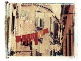 Washing Hanging Outside, Venice, Italy Photographic Print by Jon Arnold