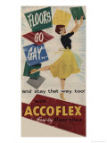 Floors Go Gay and Stay That Way Too with Accoflex Tiles Giclee Print