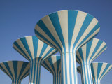 Kuwaiti Water Towers, Sideeq, Kuwait Photographic Print by Walter Bibikow