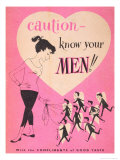 Caution- Know Your Men Giclee Print
