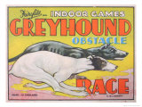 Greyhound Obstacle Race Poster