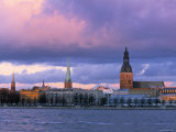 Riga from Across Daugava River, Latvia Photographic Print by Jon Arnold