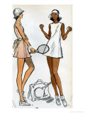 Tennis Dress Patternmaking Illustration Pósters