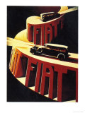 1930&#39;s Fiat Car Posters