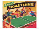Table Tennis Giclee Print