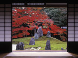 Sand Stone Garden, Komyo-In, Kyoto, Japan Photographic Print by Rex Butcher