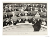 The Ministerial Benches, A Political French Cartoon Reproduction procédé giclée par Honore Daumier