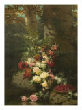 Flowers and Fruit Giclee Print by Jean Baptise Robie