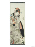Girl Playing with Doll and a Cat Giclee Print by Utagawa Kunisada