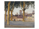 On the Walls, Lucca, c.1923 Giclee Print by Henry H. Bulman