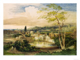 Borghese Gardens in Rome Giclee Print by Samuel Palmer