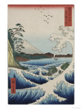 The Sea at Satta in Suruga Province Giclee Print by Ando Hiroshige