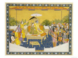 Rama and Sita Enthroned, 19th Century Giclee Print