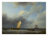 Sea Piece: A Threatening Sky Giclee Print by Hermann Koekkoek