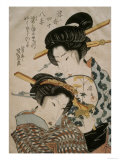 Teahouse Meeting Giclee Print by Keisai Eisen