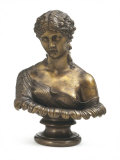 Bust of a Woman Entitled Clytie in Bronze c.1864-7 Photographie par T. Nichols