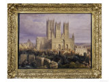 Lincoln Cathedral from the North West, Lincolnshire, England, 19th Century Giclee Print by Frederick Mackenzie