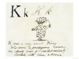 The Letter K of the Alphabet, c.1880 Pen and Indian Ink Giclée-Druck von Edward Lear