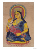 Parvati Nursing Ganesha, India, Giclee Print
