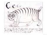 The Letter C of the Alphabet, c.1880 Pen and Indian Ink Giclée-Druck von Edward Lear