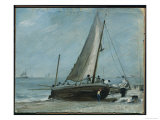 Brighton Beach with Fishing Boat and Crew, East Sussex Gicl&#233;e-Druck von John Constable