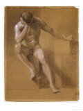 Painted Study of Male Nude, c.1800 Giclee Print by John Constable
