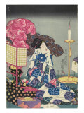 Woman at Her Toilet Gicl&#233;e-Druck von Utagawa Kunisada