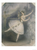 Carlotta Grisi in The Coralli, Perrot Ballet Giselle Gicl&#233;e-Druck von J. Brandard