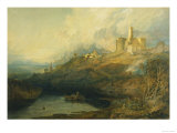 Thunderstorm Approaching at Sunset at Warkworth Castle, Northumberland Giclee Print by William Turner