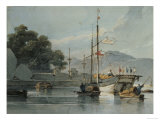 Shipping on a Chinese River, 19th Century Giclee Print by George Chinnery