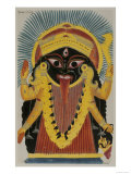 The Goddess Kali. Kalighat Style. Calcutta, India, 1845 Giclee Print