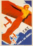 C.N.T.: Loor a Los Heroes Plakat af Arturo Ballester