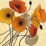 Pumpkin Poppies II Poster par Shirley Novak
