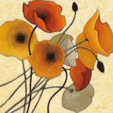 Pumpkin Poppies II Poster av Shirley Novak