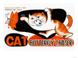 Cat Butterfly Chaser Prints